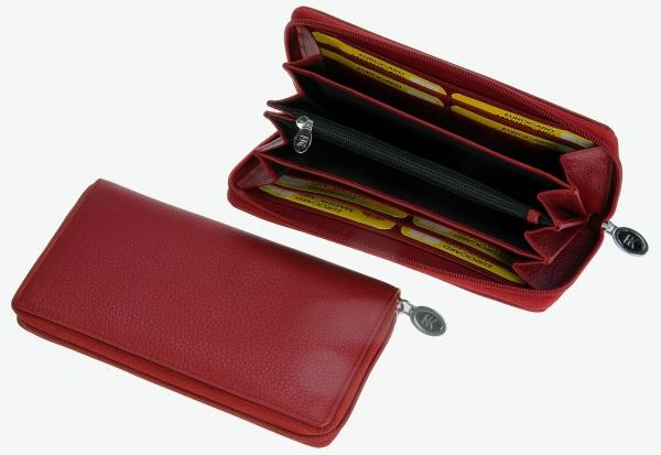 Damen-Portemonnaie, lang, karminro