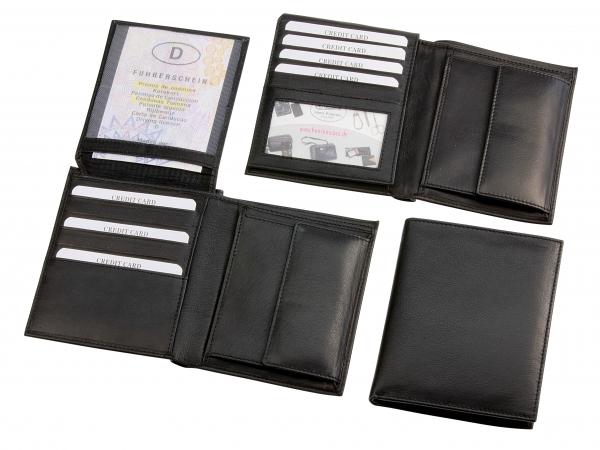 Geldbörse, Hochformat, schwarz
