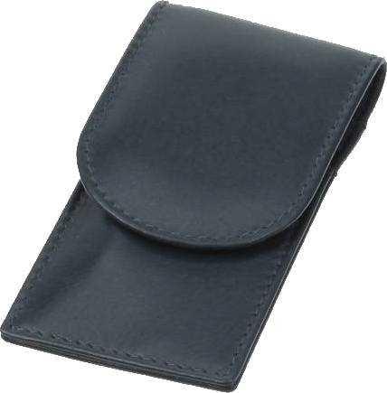 Taschenetui: 3-tlg. Bestückung, verchromt; Nappaleder, marineblau
