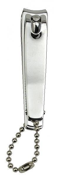 Nagelknipser mit Kette und Feile, verchromt, 60 mm