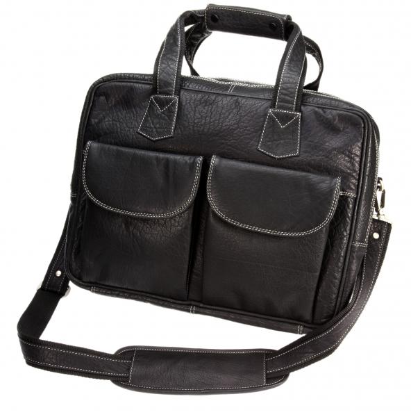 Overnighter-Reisetasche, schwarz mit Kontrastnaht