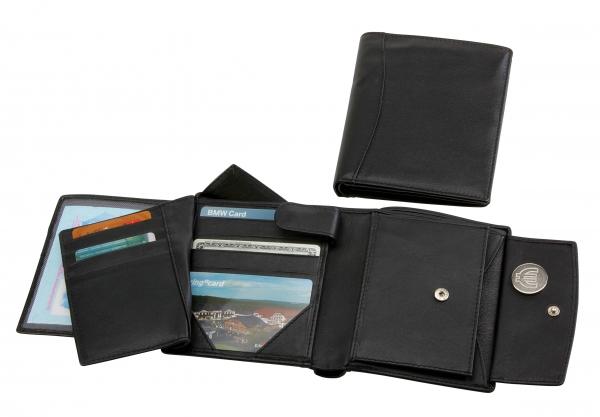 Herrengeldbörse, Hochformat mit Riegel, schwarz
