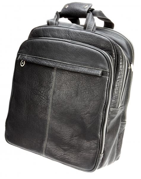 Business-Rucksack, schwarz mit Kontrastnaht