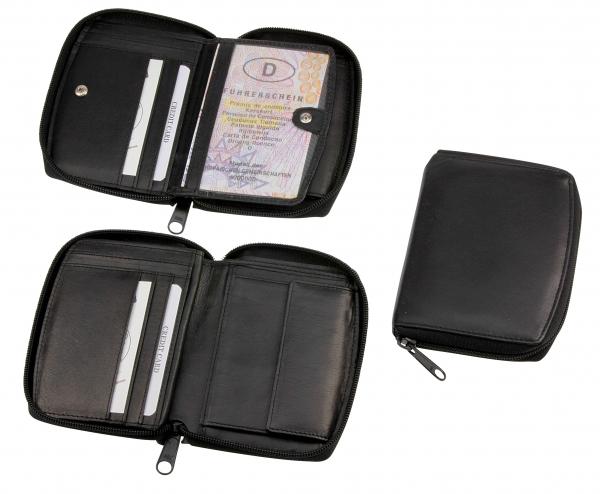 Damen-Portemonnaie, Hochformat, schwarz