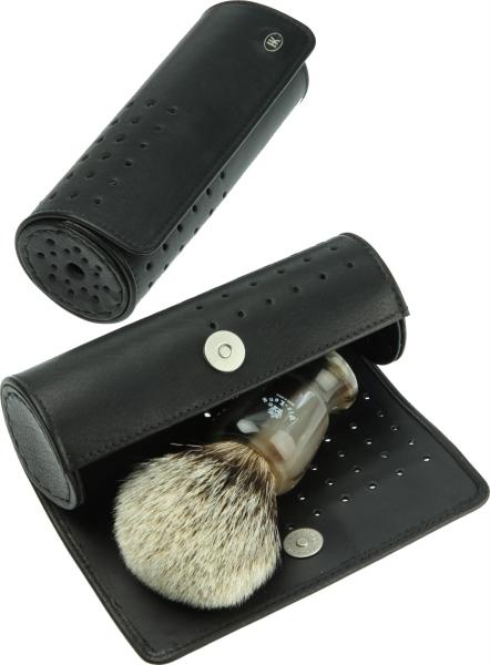 Rundbox für Rasierpinsel, schwarz