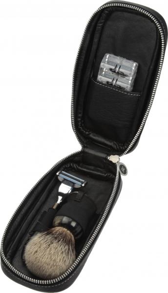Futteral für Rasur-Accessoires, schwarz