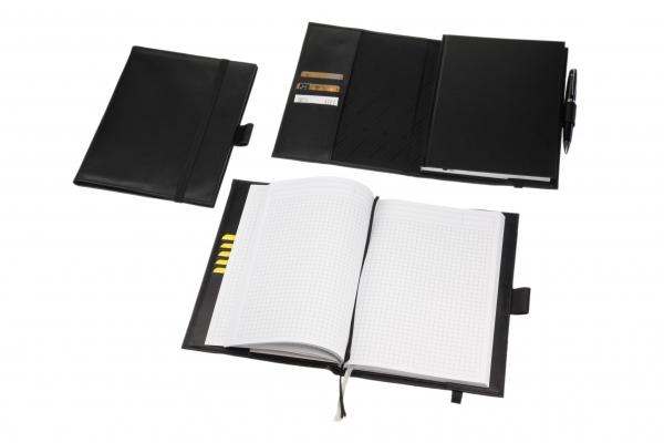 Brunnen®-Notizbuch, A6 kariert, schwarz