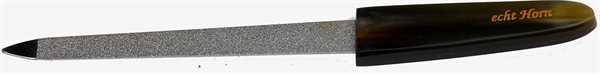"Saphir-Feile, 13 cm; Griff aus""echt Horn"""