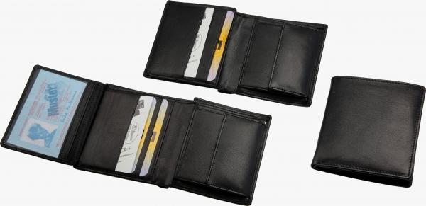 Kompakt-Geldbörse, schwarz
