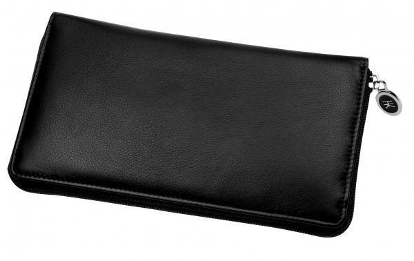 Damen-Portemonnaie, lang, schwarz