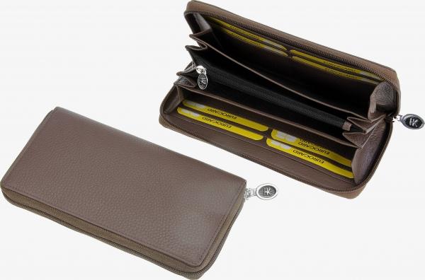 Damen-Portemonnaie, lang, taupe