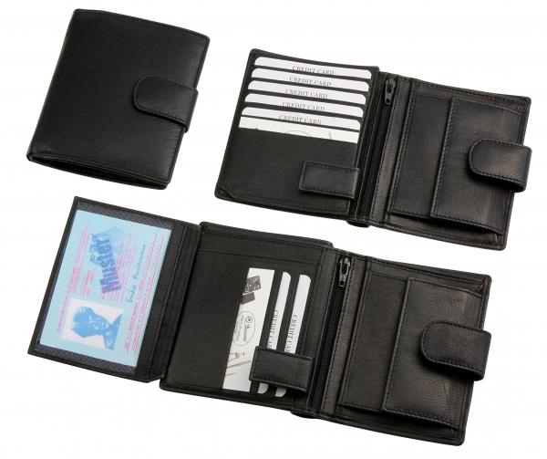 Herrengeldbörse, Hochformat, schwarz