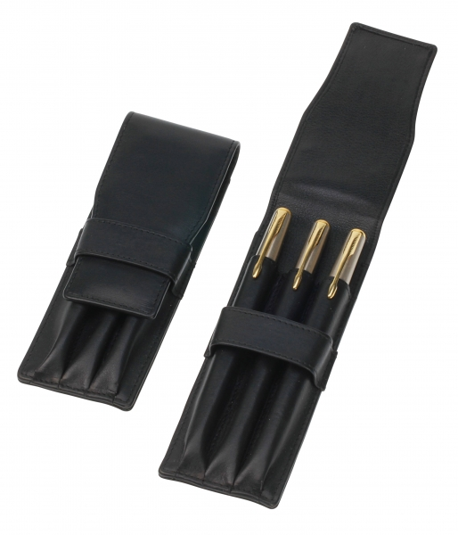 Stift-Etui mit Lasche, schwarz