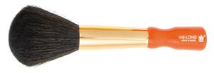 Puder-Pinsel, kurzer Griff, Ziegen-Haar