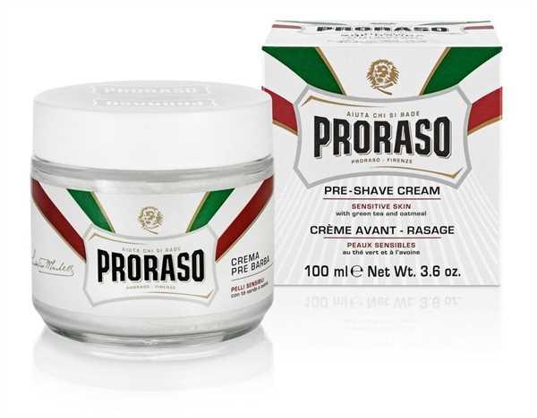 Pre-Shave-Crème, 100 ml, mit grünem Tee und Hafer