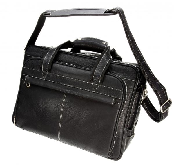 Computer-Tasche, schwarz mit Kontrastnaht