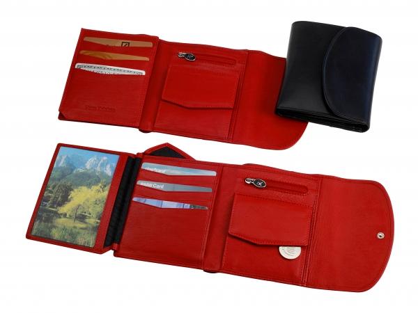 Portemonnaie, Hochformat, rot